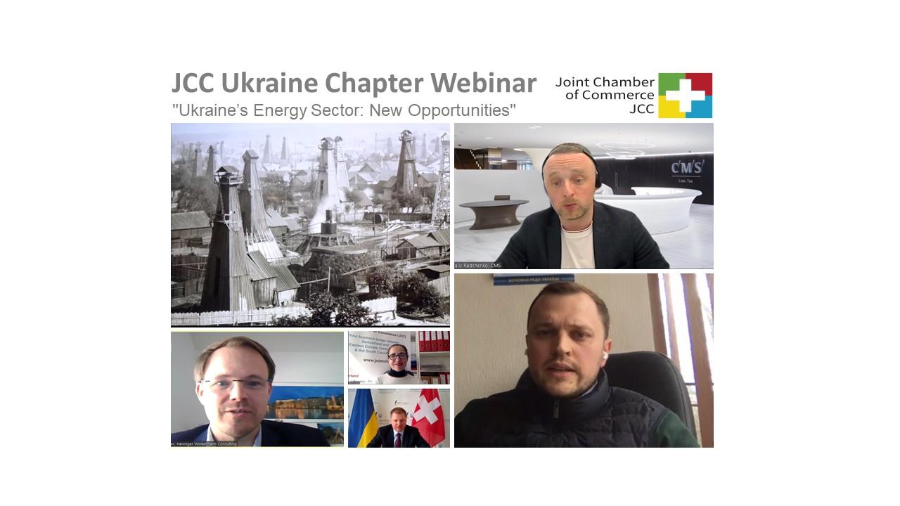 "JCC Ukraine Chapter Webinar am 20.04.2021  ""Ukraine's Energy Sector: New Opportunities"""