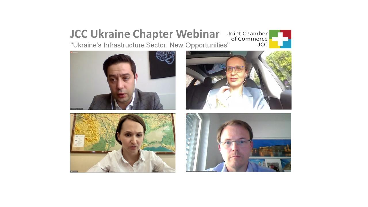 """JCC Ukraine Chapter Webinar am 25.05.2021 """"Ukraine's Infrastructure Sector: New Opportunities"""""""