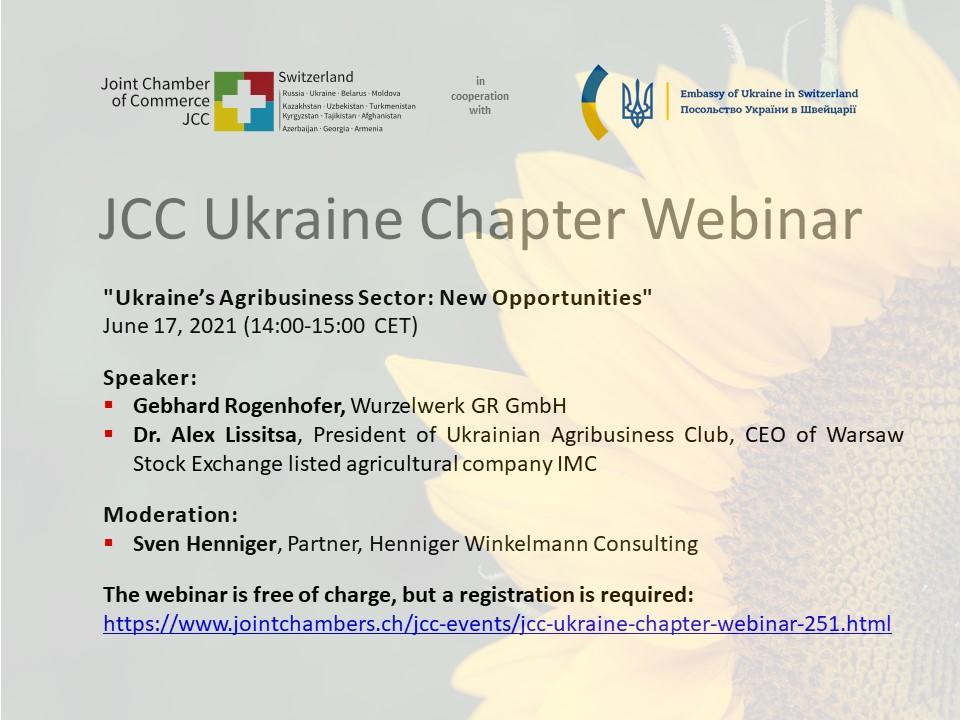 #Webinar Ukraine's Agribusiness: New Opportunities