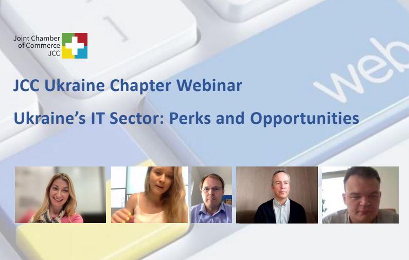 "JCC Ukraine Chapter Webinar ""Ukraine's IT Sector: Perks and Opportunities"""